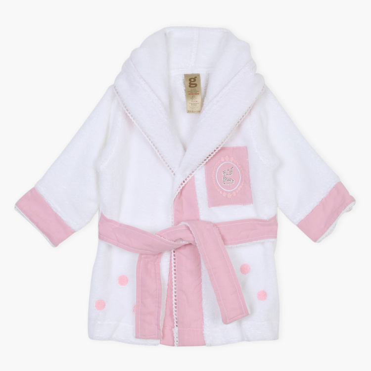 Giggles Printed Hooded Robe with Belt