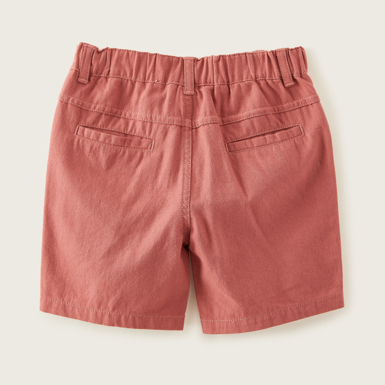 Giggles Woven Pocket Detail Shorts with Elasticised Waistband