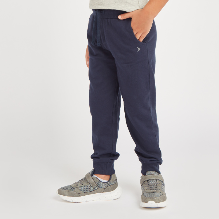 Juniors Solid Jog Pants with Pockets and Drawstring
