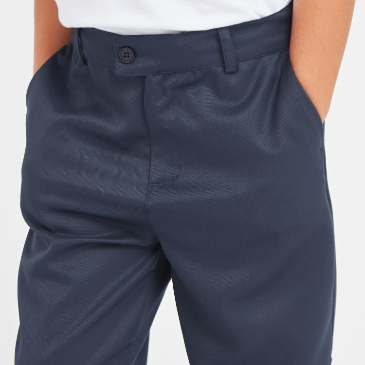 Juniors Textured Trousers with Pocket Detail and Elasticised Waistband