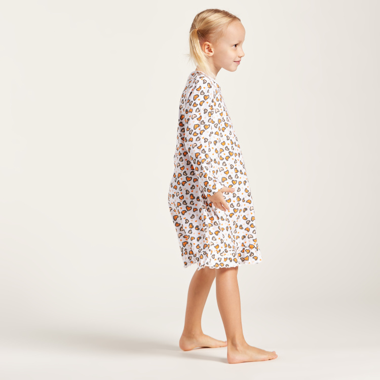 Juniors Printed Sleep Dress with Long Sleeves - Pack of 2