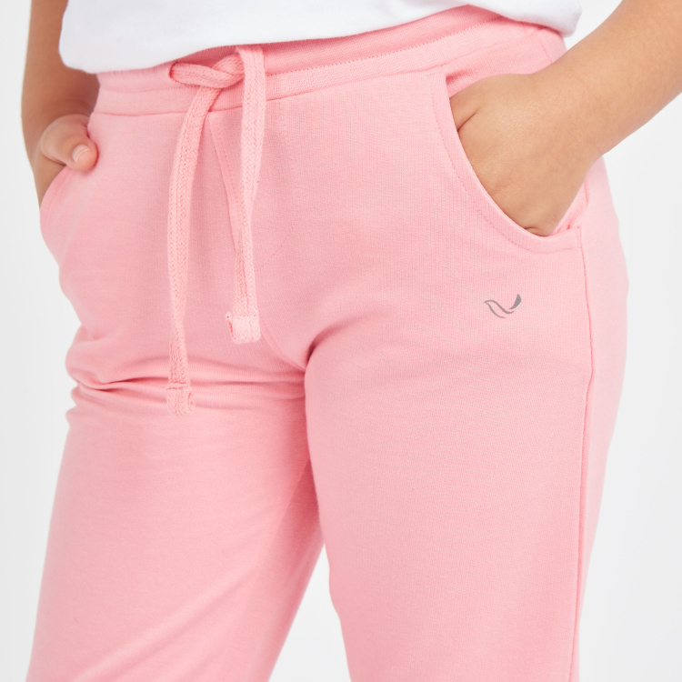 Juniors Solid Joggers with Pockets and Drawstring Closure