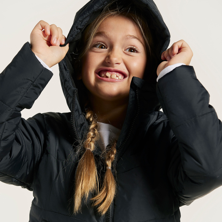 Juniors Padded Jacket with Long Sleeves and Hood