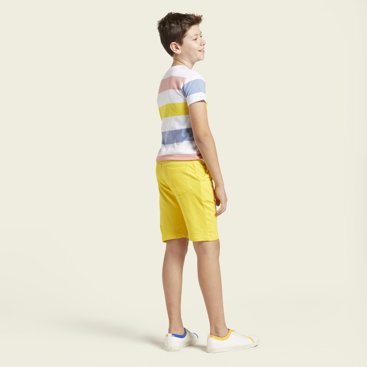 Juniors Solid Shorts with Pockets and Elasticated Waistband