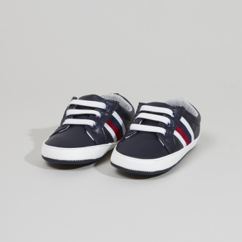 Giggles Booties with Side Stripe Detail