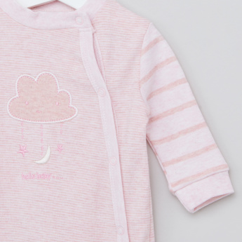 Juniors Embroidered Sleepsuit with Long Sleeves