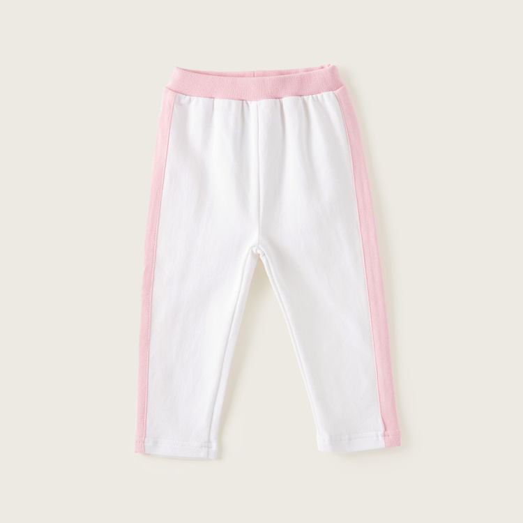 Juniors Dual Tone Pants with Elasticated Waistband
