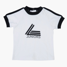 Juniors T-shirt with Round Neck and Short Sleeves
