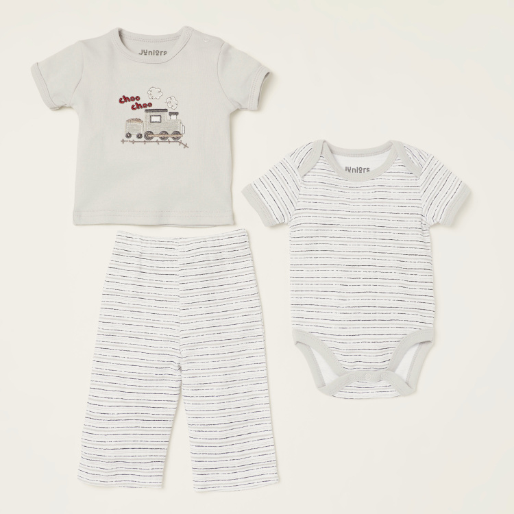 Juniors Train Embroidered 8-Piece Apparel Set